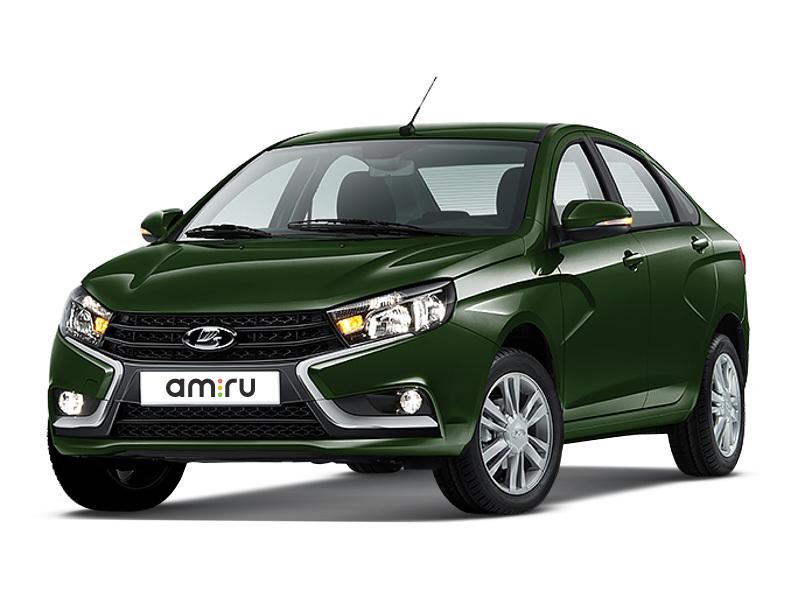 Новый авто ВАЗ (Lada) Vesta, зеленый металлик, 2016 года выпуска, цена 613 000 руб. в автосалоне  ()