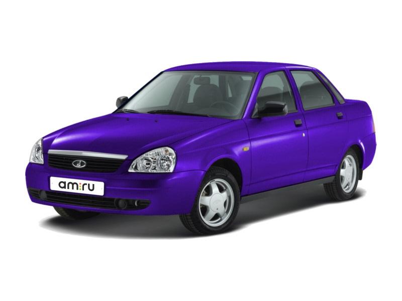 Подержанный ВАЗ (Lada) Priora, хорошее состояние, фиолетовый , 2011 года выпуска, цена 175 000 руб. в республике Татарстане