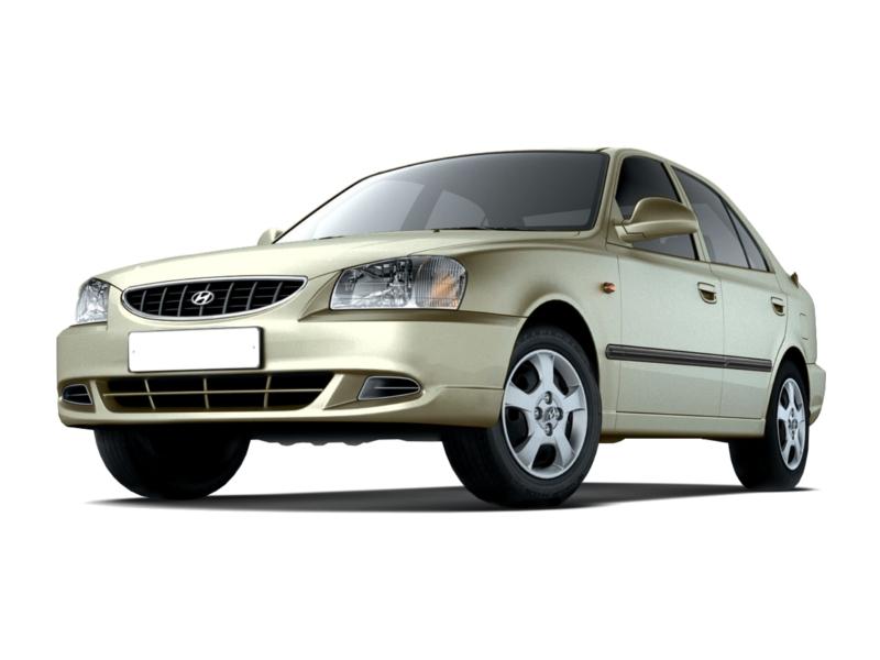 Подержанный Hyundai Accent, плохое состояние, бежевый , 2003 года выпуска, цена 130 000 руб. в ао. Ханты-Мансийском Автономном округе - Югре