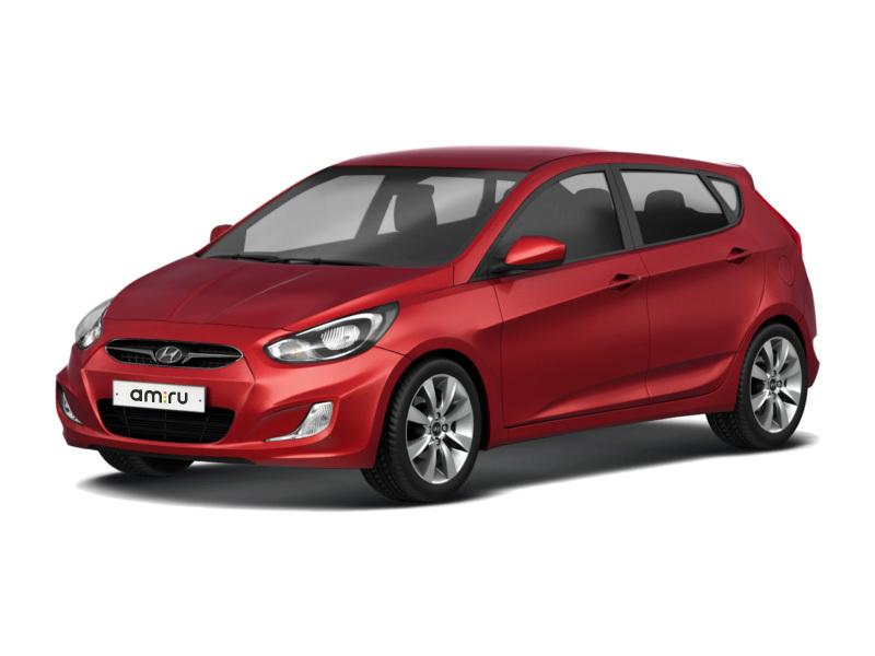 Подержанный Hyundai Solaris, среднее состояние, красный , 2012 года выпуска, цена 350 000 руб. в ао. Ханты-Мансийском Автономном округе - Югре