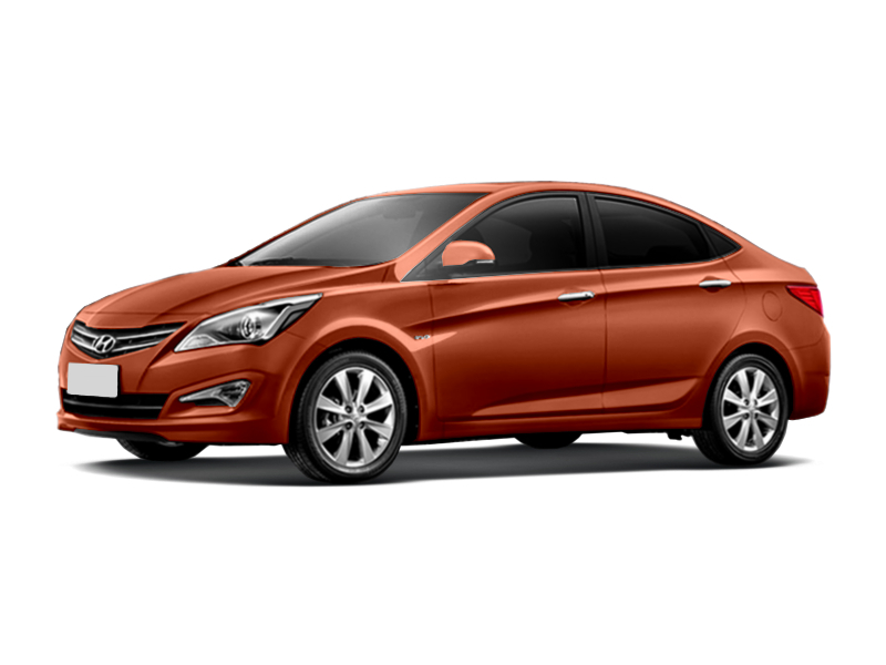 Hyundai Solaris с пробегом, оранжевый перламутр, отличное состояние, 2015 года выпуска, цена 666 000 руб. в автосалоне  ()