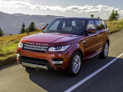 Фото автомобиля Land Rover Range Rover Sport 2 поколение, ракурс: 45 цвет: оранжевый