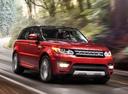 Фото авто Land Rover Range Rover Sport 2 поколение, ракурс: 315 цвет: оранжевый