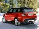 Фото авто Land Rover Range Rover Sport 2 поколение, ракурс: 135 цвет: оранжевый