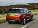 Фото авто Land Rover Range Rover Sport 2 поколение, ракурс: 225 цвет: оранжевый