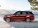 Фото авто Land Rover Range Rover Sport 2 поколение, ракурс: 90 цвет: оранжевый