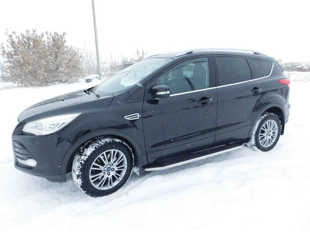 Подержанный Ford Kuga, отличное состояние, черный перламутр, 2013 года выпуска, цена 1 200 000 руб. в Челябинской области