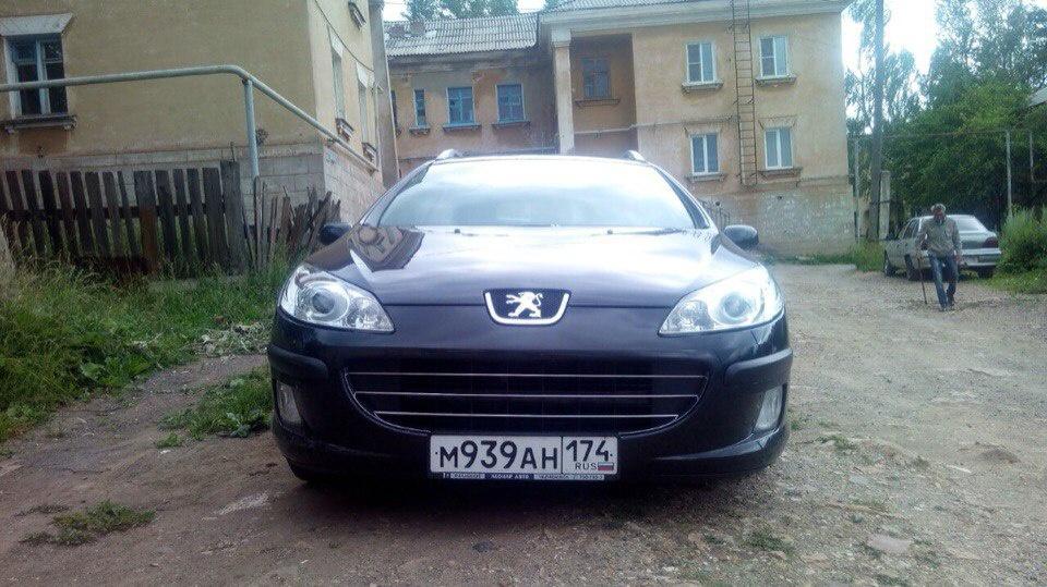 Подержанный Peugeot 407, отличное состояние, черный , 2007 года выпуска, цена 400 000 руб. в Челябинской области