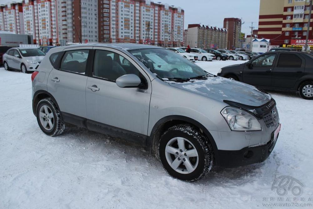 Nissan Qashqai с пробегом, серебряный , отличное состояние, 2009 года выпуска, цена 630 000 руб. в автосалоне Автомобильная Ярмарка (Тюмень, ул. Пермякова, д. 85)