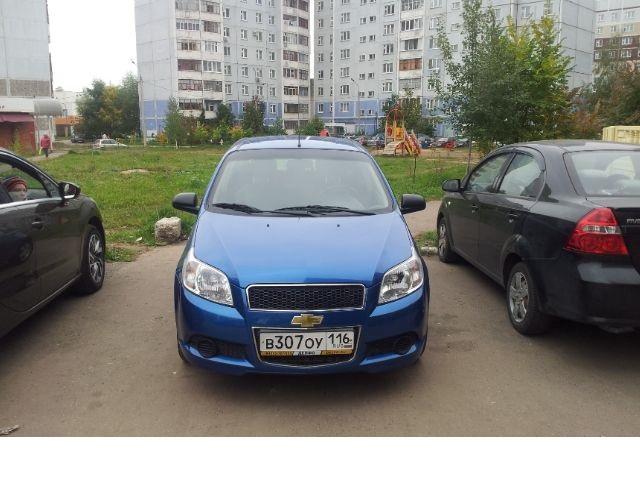 Подержанный Chevrolet Aveo, отличное состояние, синий , 2010 года выпуска, цена 300 000 руб. в республике Татарстане