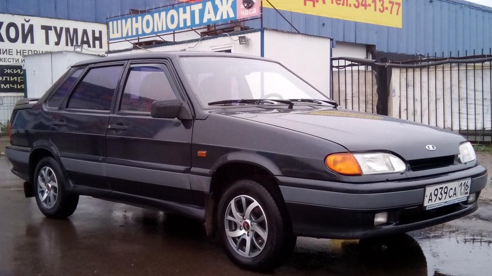 Подержанный ВАЗ (Lada) 2115, отличное состояние, черный металлик, 2007 года выпуска, цена 155 000 руб. в республике Татарстане