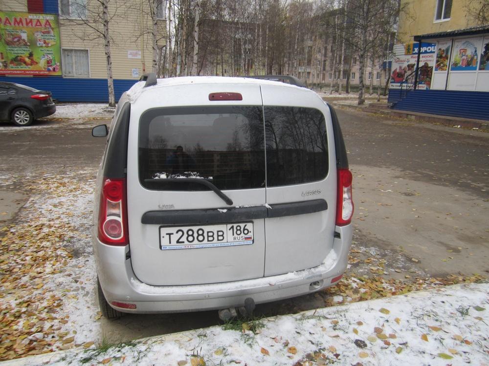Подержанный ВАЗ (Lada) Largus, хорошее состояние, серебряный , 2014 года выпуска, цена 420 000 руб. в ао. Ханты-Мансийском Автономном округе - Югре