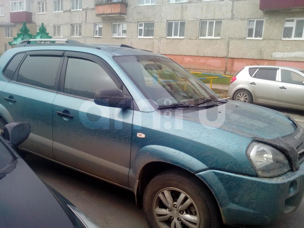 Подержанный Hyundai Tucson, хорошее состояние, бирюзовый , 2008 года выпуска, цена 560 000 руб. в ао. Ханты-Мансийском Автономном округе - Югре