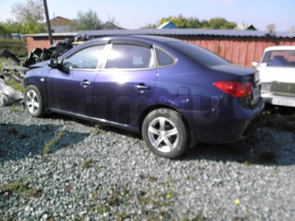 Подержанный Hyundai Elantra, битый состояние, синий металлик, 2007 года выпуска, цена 190 000 руб. в Челябинской области