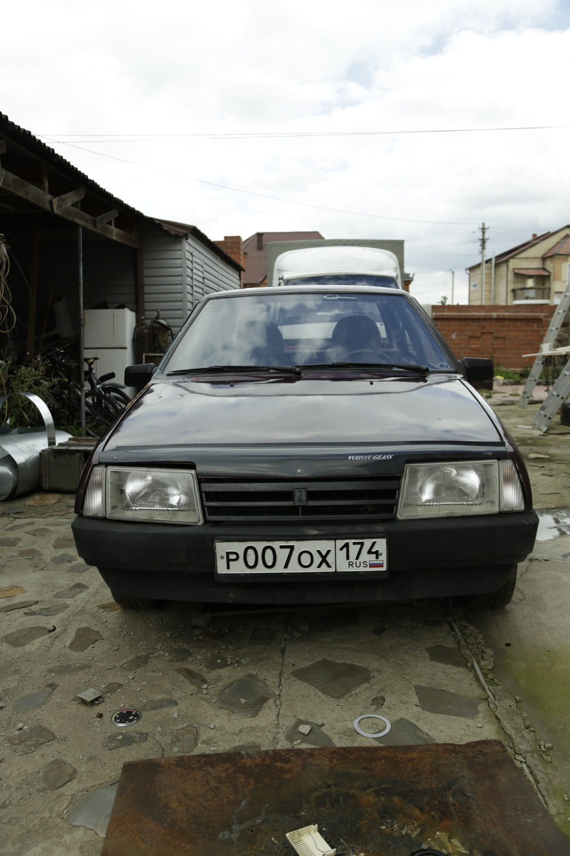 Подержанный ВАЗ (Lada) 2109, среднее состояние, красный , 1994 года выпуска, цена 60 000 руб. в Челябинской области