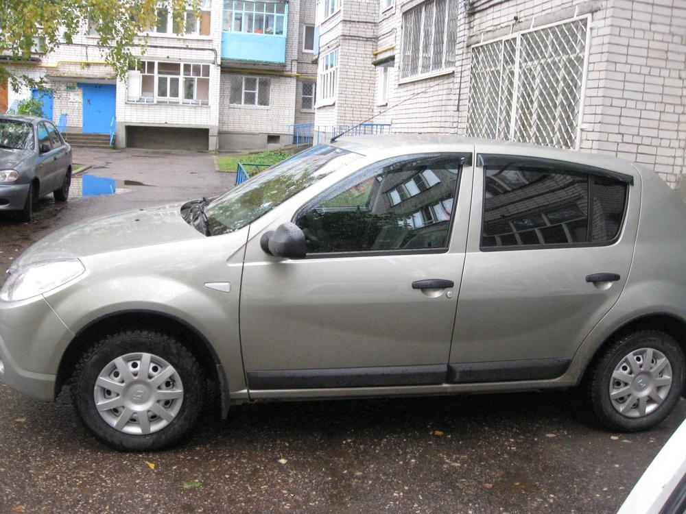 Подержанный Renault Sandero, отличное состояние, бежевый металлик, 2011 года выпуска, цена 380 000 руб. в республике Татарстане