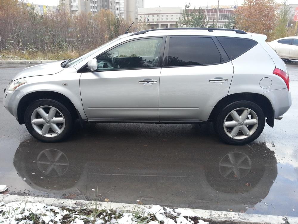 Подержанный Nissan Murano, среднее состояние, серебряный металлик, 2005 года выпуска, цена 470 000 руб. в ао. Ханты-Мансийском Автономном округе - Югре