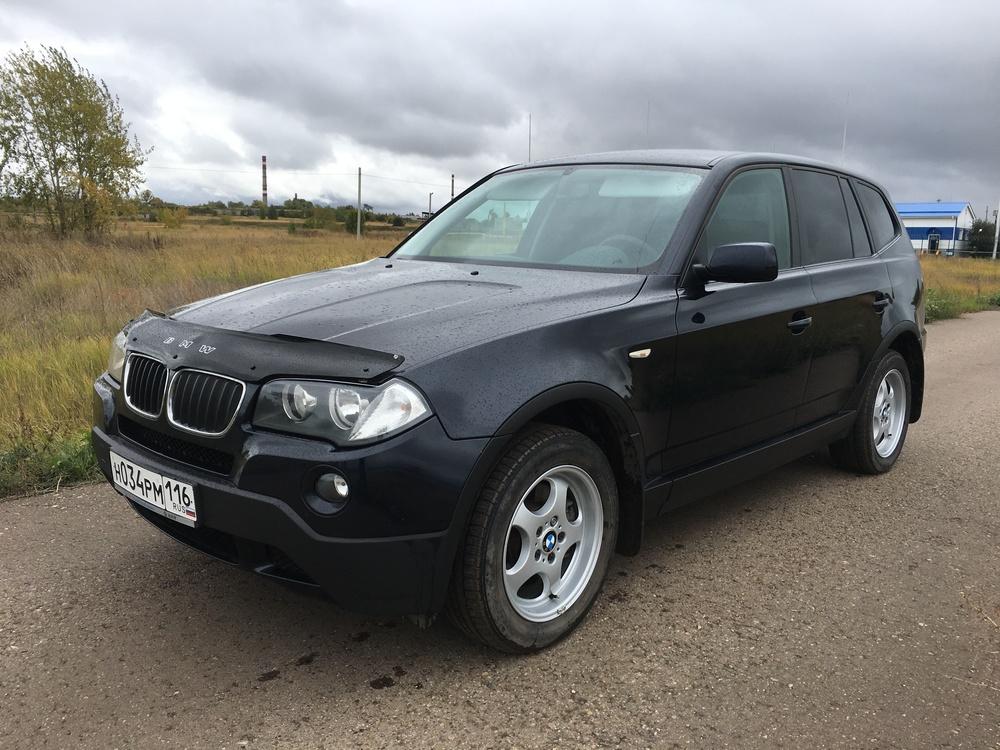 Подержанный BMW X3, хорошее состояние, синий , 2009 года выпуска, цена 860 000 руб. в республике Татарстане