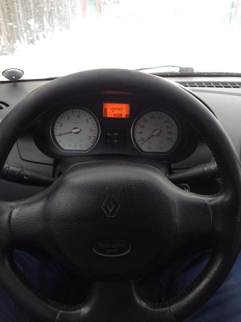 Подержанный Renault Logan, хорошее состояние, черный , 2007 года выпуска, цена 210 000 руб. в Челябинской области