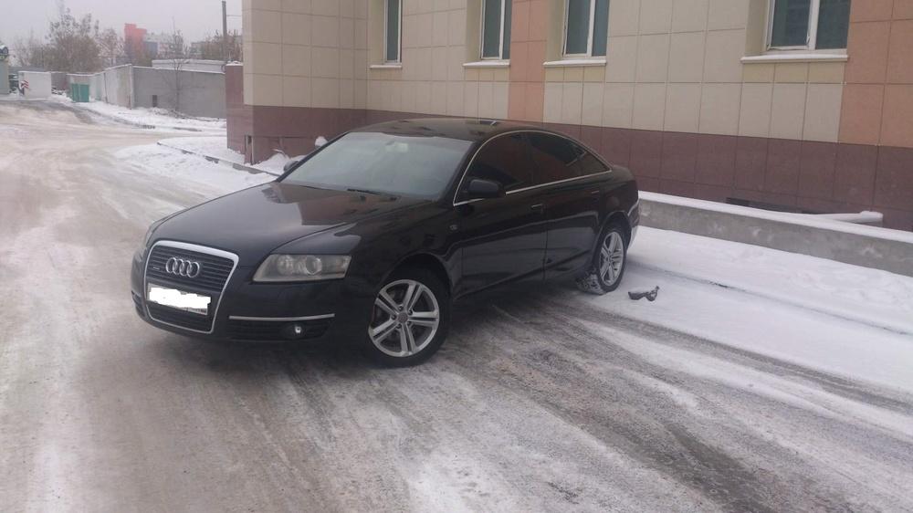 Подержанный Audi A6, отличное состояние, черный , 2006 года выпуска, цена 550 000 руб. в Челябинской области