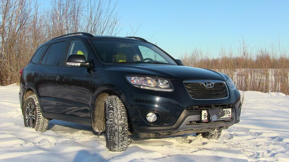 Подержанный Hyundai Santa Fe, отличное состояние, синий перламутр, 2012 года выпуска, цена 990 000 руб. в ао. Ханты-Мансийском Автономном округе - Югре