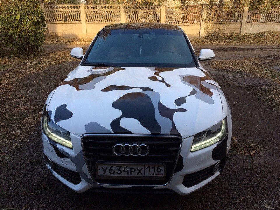 Подержанный Audi A5, отличное состояние, белый , 2008 года выпуска, цена 900 000 руб. в Челябинской области