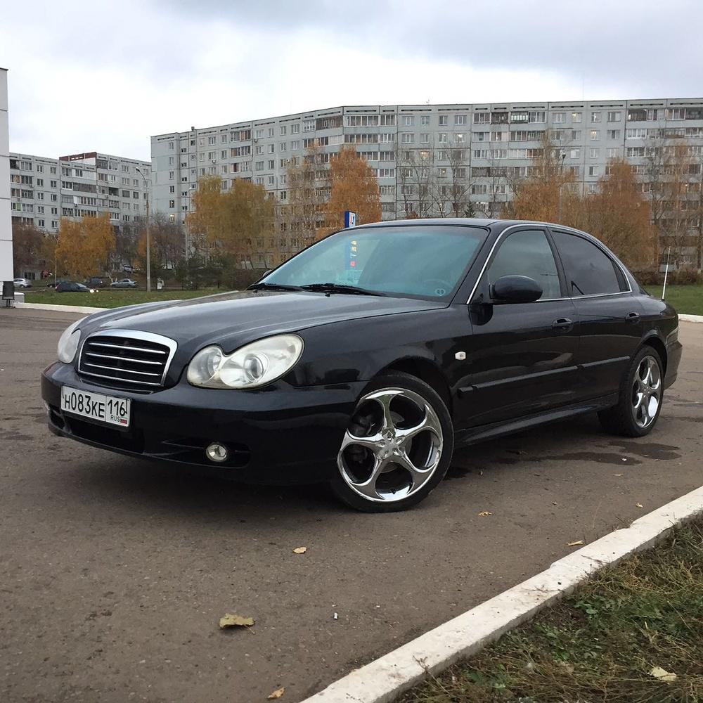 Подержанный Hyundai Sonata, отличное состояние, черный , 2009 года выпуска, цена 345 000 руб. в республике Татарстане