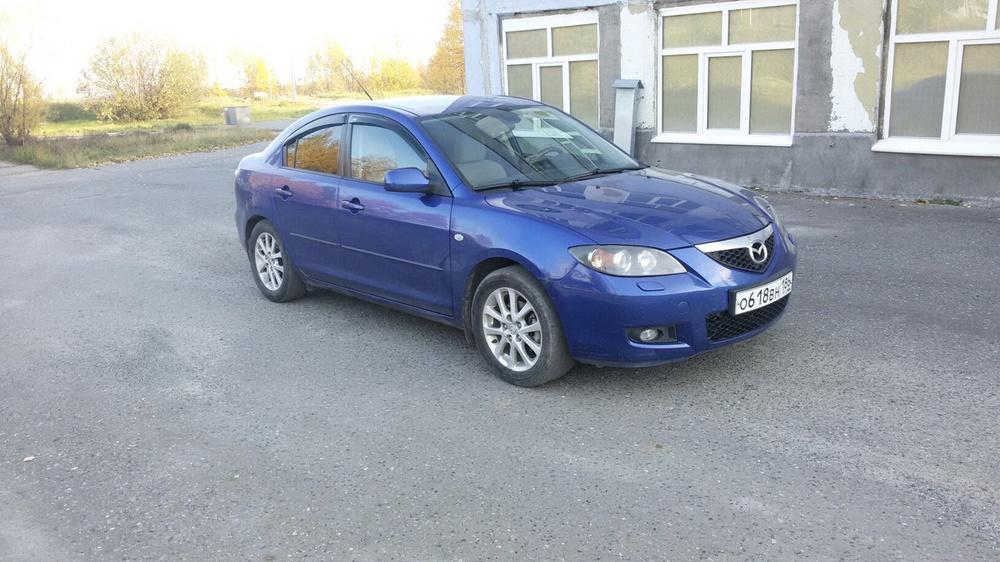 Подержанный Mazda 3, хорошее состояние, синий , 2008 года выпуска, цена 390 000 руб. в ао. Ханты-Мансийском Автономном округе - Югре