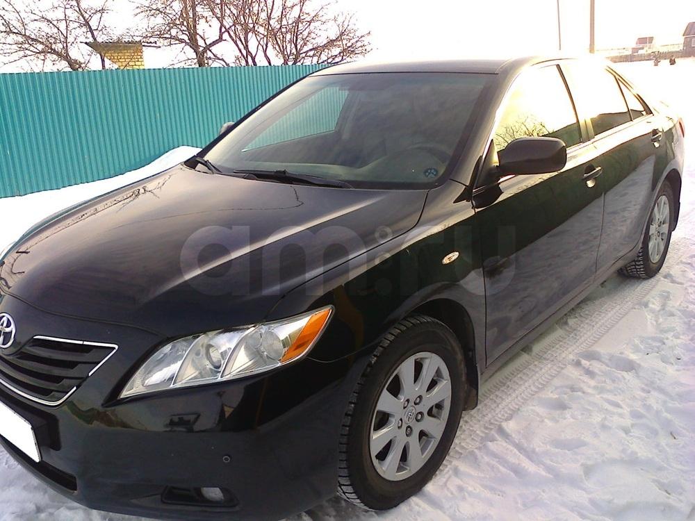 Подержанный Toyota Camry, хорошее состояние, черный , 2007 года выпуска, цена 650 000 руб. в Челябинской области