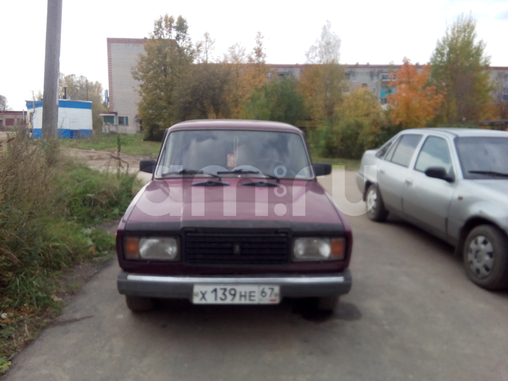 Подержанный ВАЗ (Lada) 2107, хорошее состояние, фиолетовый , 2002 года выпуска, цена 53 000 руб. в Смоленской области