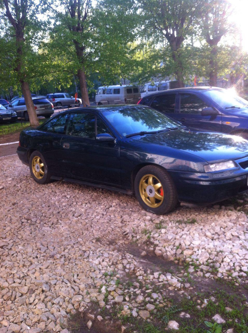 Подержанный Opel Calibra, хорошее состояние, зеленый металлик, 1994 года выпуска, цена 200 000 руб. в республике Татарстане