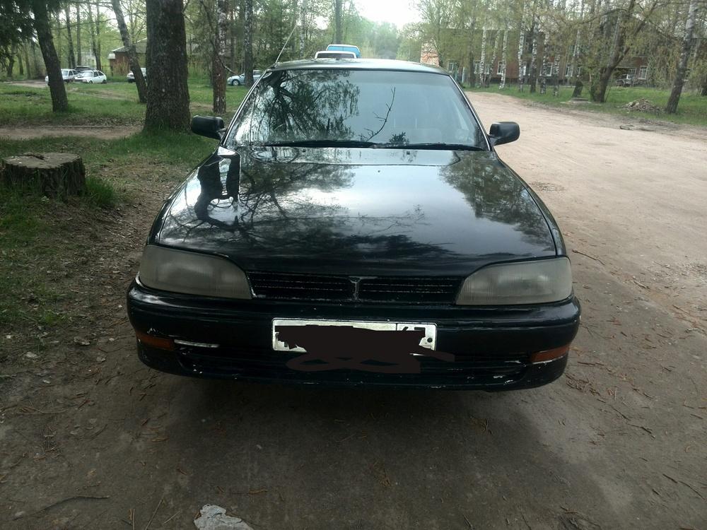 Подержанный Toyota Camry, среднее состояние, черный , 1991 года выпуска, цена 64 900 руб. в Смоленской области