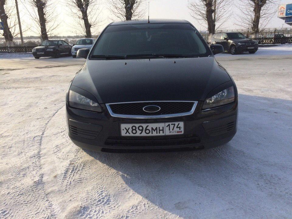 Подержанный Ford Focus, отличное состояние, черный металлик, 2007 года выпуска, цена 280 000 руб. в Челябинской области