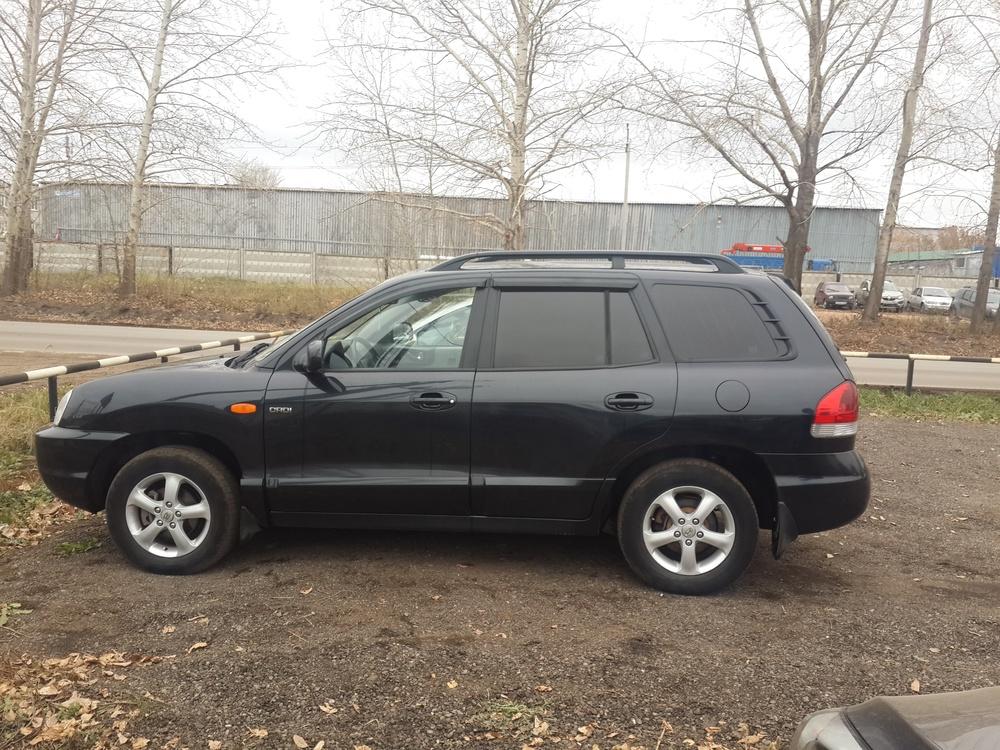 Подержанный Hyundai Santa Fe, отличное состояние, черный , 2008 года выпуска, цена 460 000 руб. в республике Татарстане