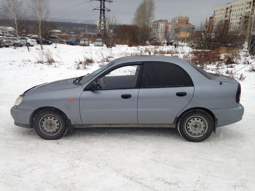 Подержанный Chevrolet Lanos, хорошее состояние, серебряный металлик, 2008 года выпуска, цена 120 000 руб. в Челябинской области