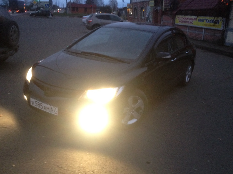 Подержанный Honda Civic, хорошее состояние, черный , 2008 года выпуска, цена 440 000 руб. в Смоленской области