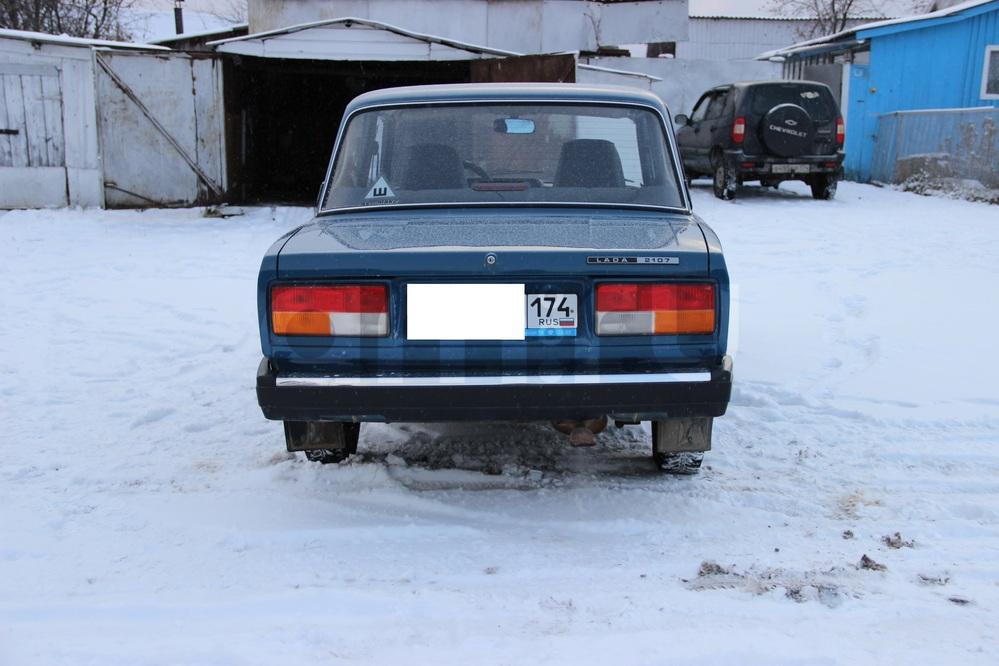 Подержанный ВАЗ (Lada) 2107, отличное состояние, синий акрил, 2008 года выпуска, цена 100 000 руб. в Челябинской области