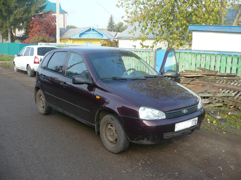 Подержанный ВАЗ (Lada) Kalina, хорошее состояние, вишневый металлик, 2012 года выпуска, цена 225 000 руб. в республике Татарстане