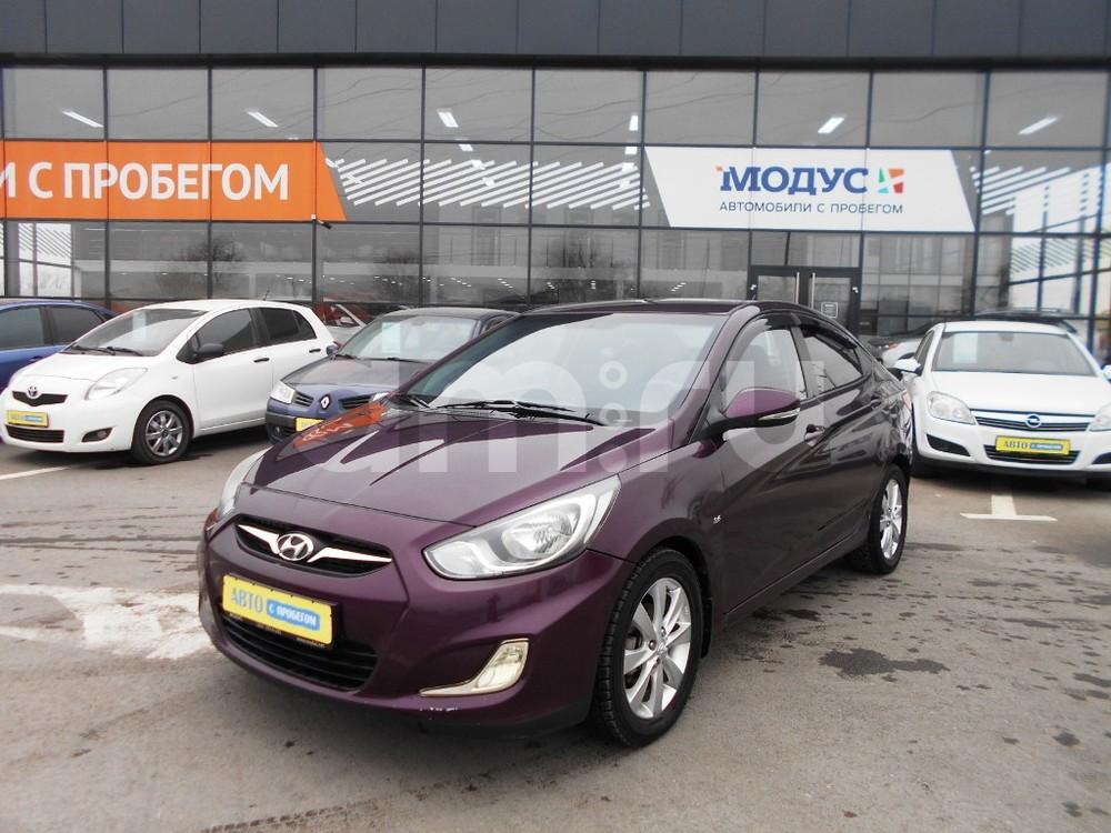 Hyundai Solaris с пробегом, фиолетовый перламутр, отличное состояние, 2012 года выпуска, цена 430 000 руб. в автосалоне  ()