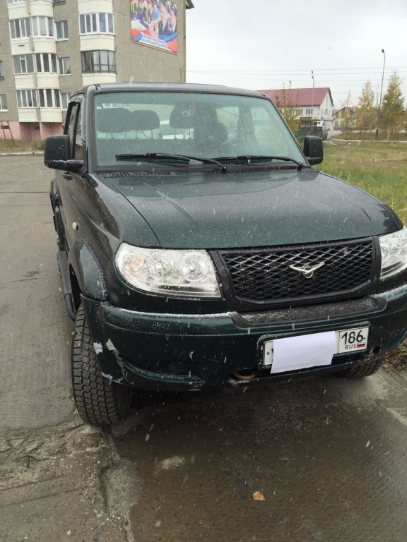 Подержанный УАЗ Patriot, отличное состояние, зеленый , 2012 года выпуска, цена 400 000 руб. в ао. Ханты-Мансийском Автономном округе - Югре