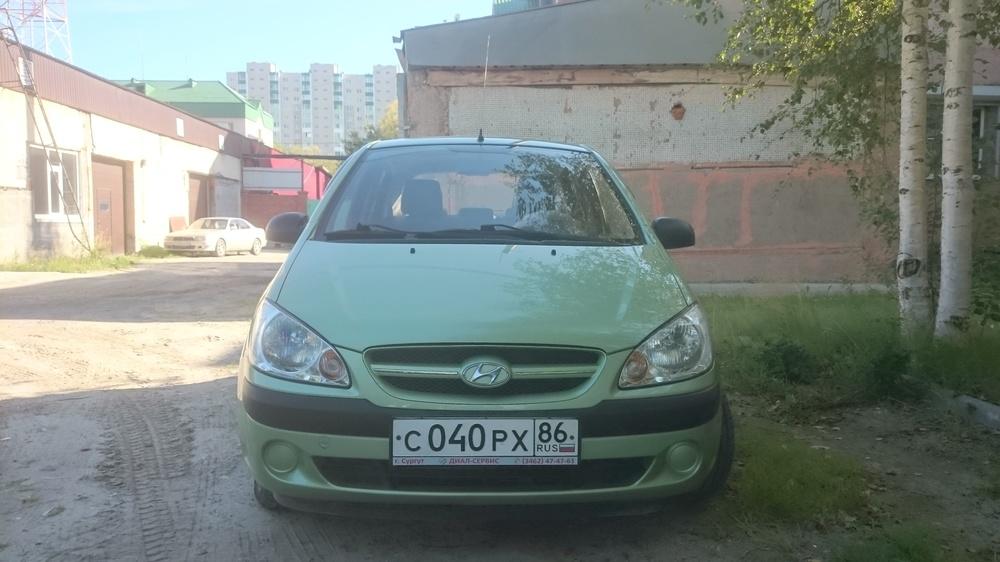 Подержанный Hyundai Getz, отличное состояние, зеленый , 2007 года выпуска, цена 330 000 руб. в ао. Ханты-Мансийском Автономном округе - Югре