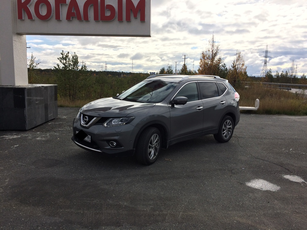 Подержанный Nissan X-Trail, отличное состояние, серый металлик, 2015 года выпуска, цена 1 750 000 руб. в ао. Ханты-Мансийском Автономном округе - Югре