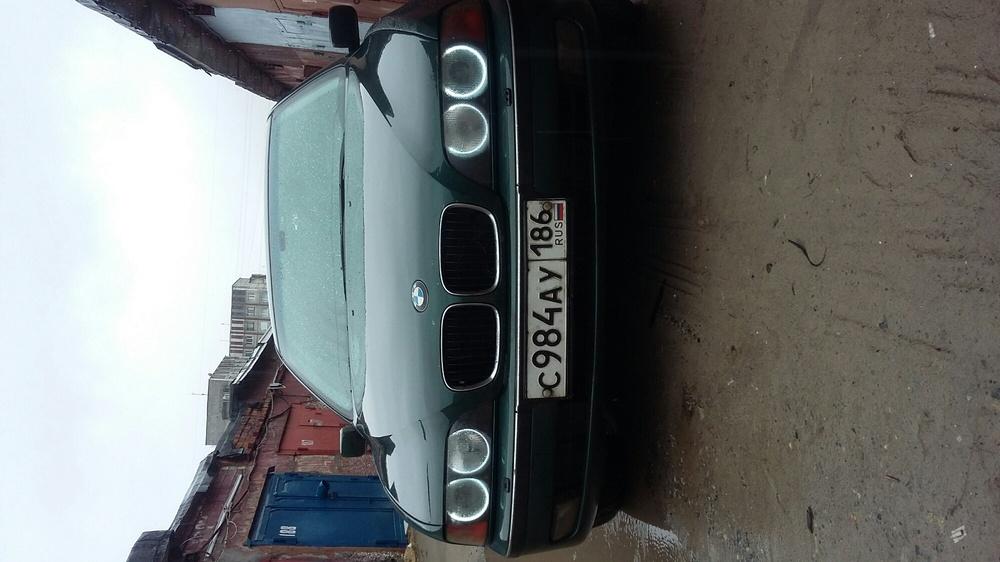 Подержанный BMW 5 серия, среднее состояние, зеленый металлик, 1997 года выпуска, цена 240 000 руб. в ао. Ханты-Мансийском Автономном округе - Югре