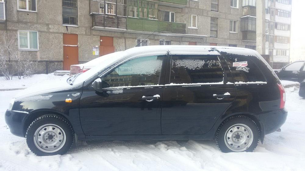 Подержанный ВАЗ (Lada) Kalina, хорошее состояние, черный , 2011 года выпуска, цена 205 000 руб. в Челябинской области