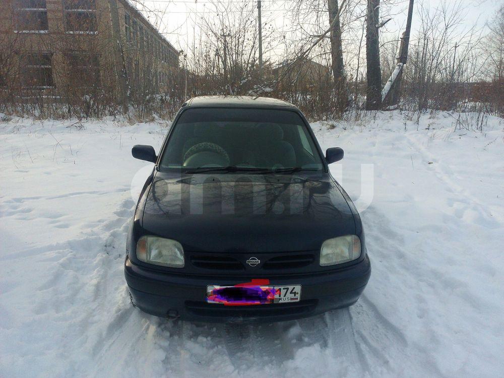 Подержанный Nissan March, хорошее состояние, фиолетовый , 1997 года выпуска, цена 90 000 руб. в Челябинской области
