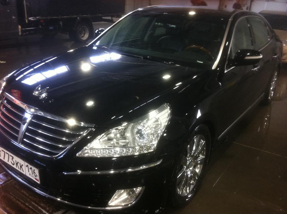 Подержанный Hyundai Equus, хорошее состояние, черный , 2012 года выпуска, цена 1 500 000 руб. в республике Татарстане
