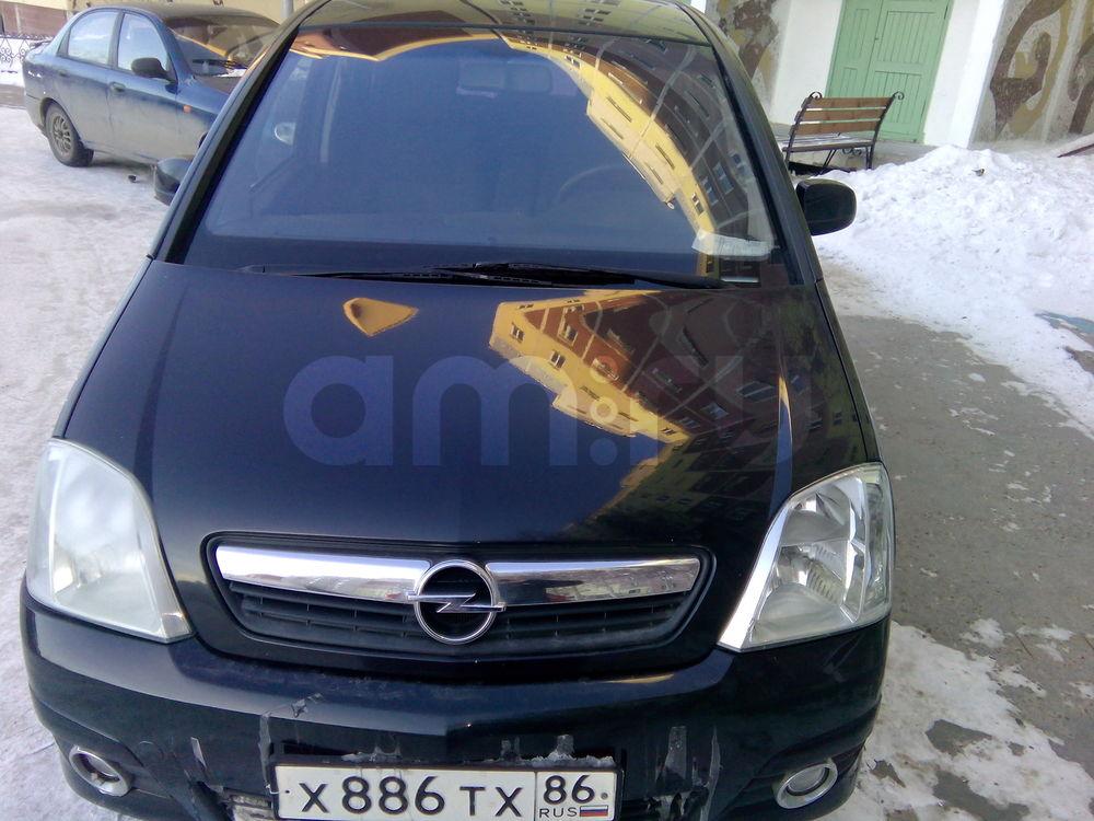 Подержанный Opel Meriva, хорошее состояние, черный , 2008 года выпуска, цена 285 000 руб. в ао. Ханты-Мансийском Автономном округе - Югре