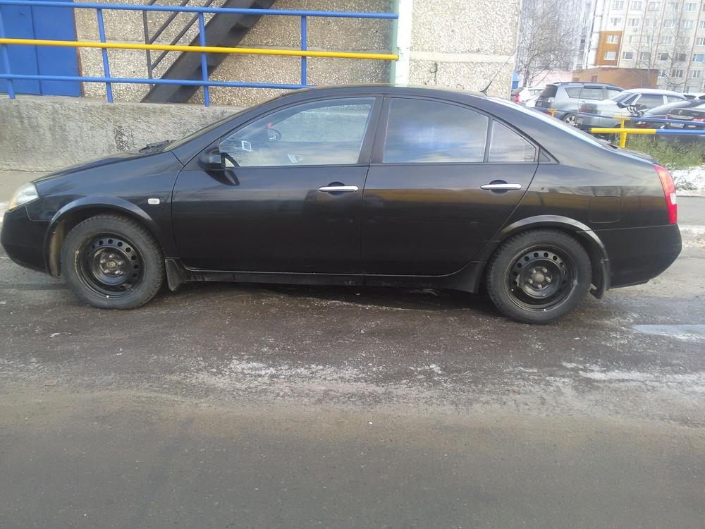Подержанный Nissan Primera, хорошее состояние, черный , 2007 года выпуска, цена 330 000 руб. в ао. Ханты-Мансийском Автономном округе - Югре