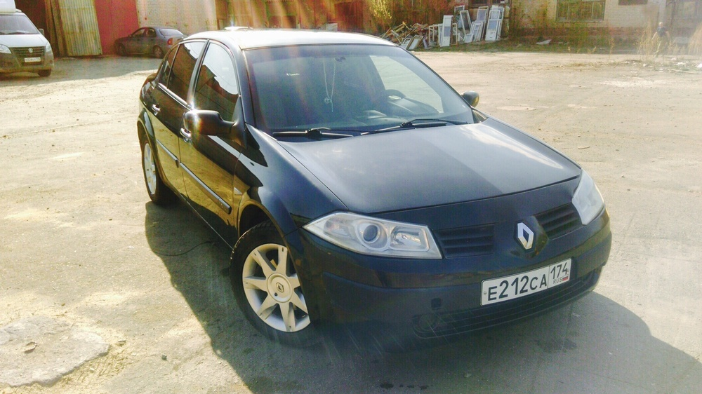 Подержанный Renault Megane, отличное состояние, черный , 2004 года выпуска, цена 145 000 руб. в Челябинской области