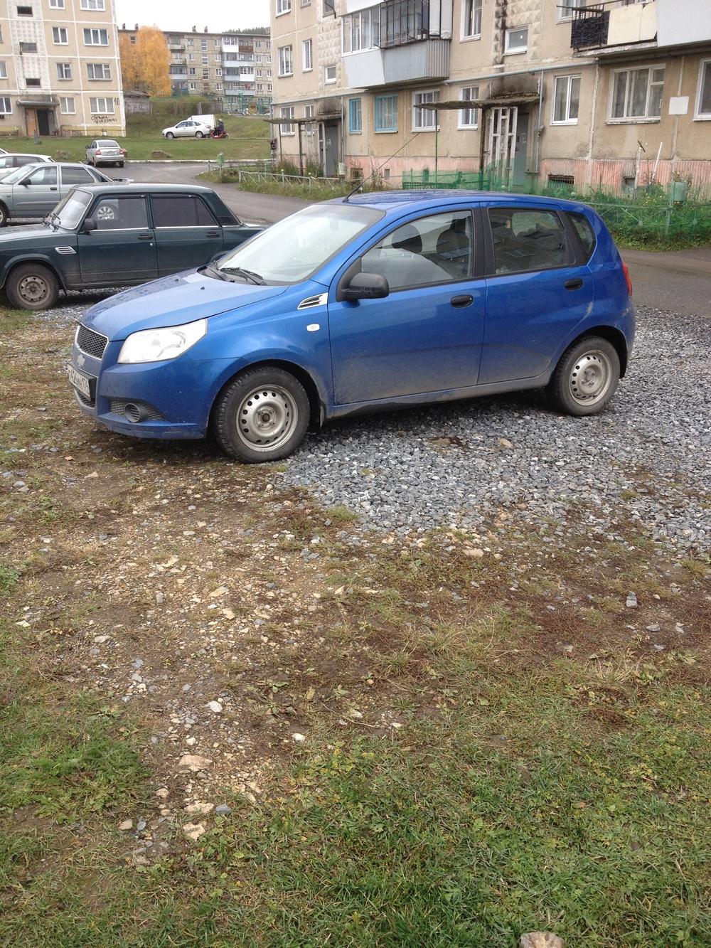 Подержанный Chevrolet Aveo, хорошее состояние, синий металлик, 2009 года выпуска, цена 245 000 руб. в Челябинской области